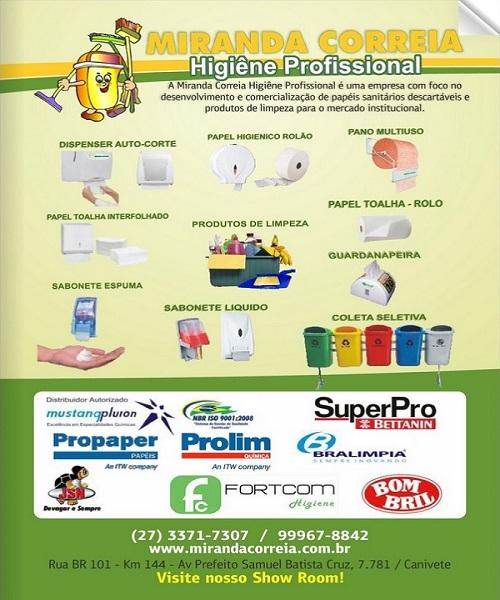 Catalogo de produtos Miranda Correia higienização profissional 2016